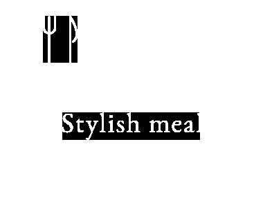 Stylish meal